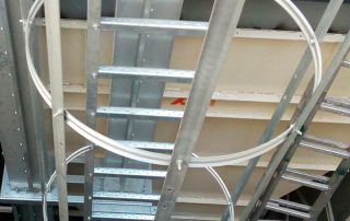 Transportador elevador bandas cortes