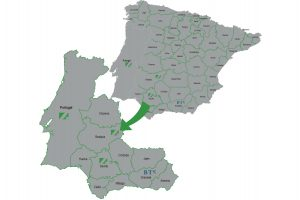 mapa delegaciones bandas cortes