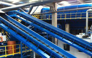 montaje para industria del reciclaje bandas cortes