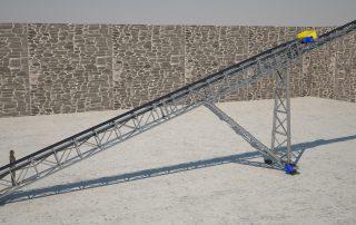 transportador telescopico bandas cortes render