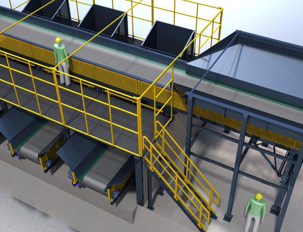 Fabricación y montaje planta de reciclaje en Melilla