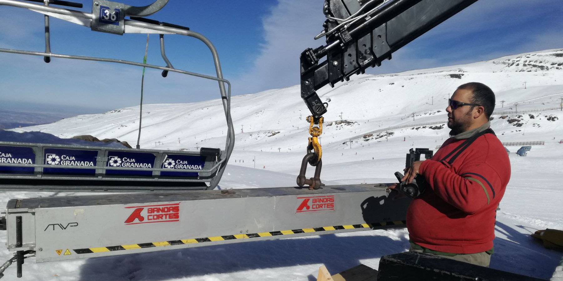 montaje sierra nevada bandas cortes